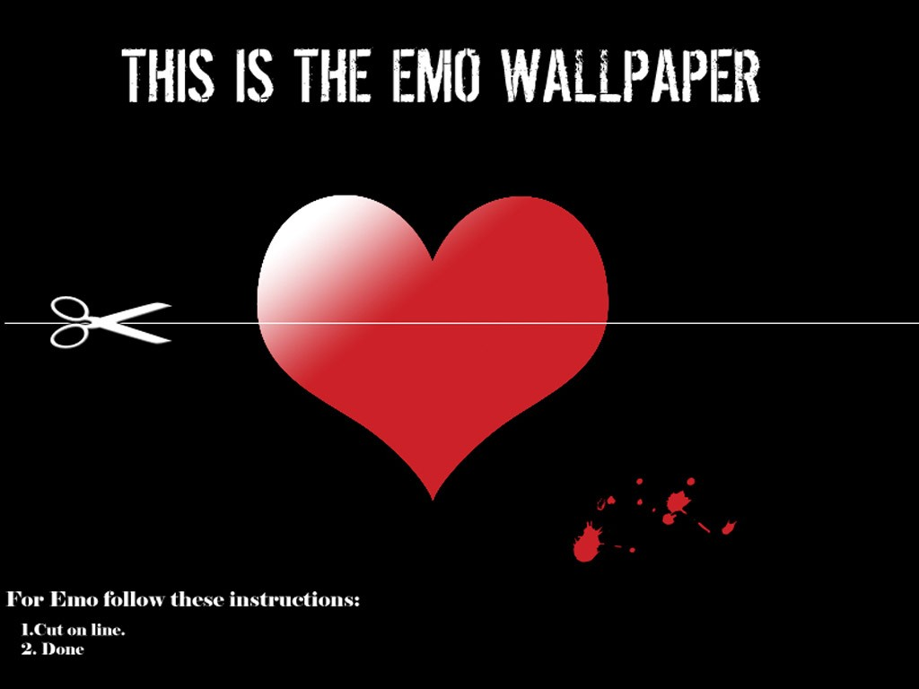 Cutting Line wallpaper Emo