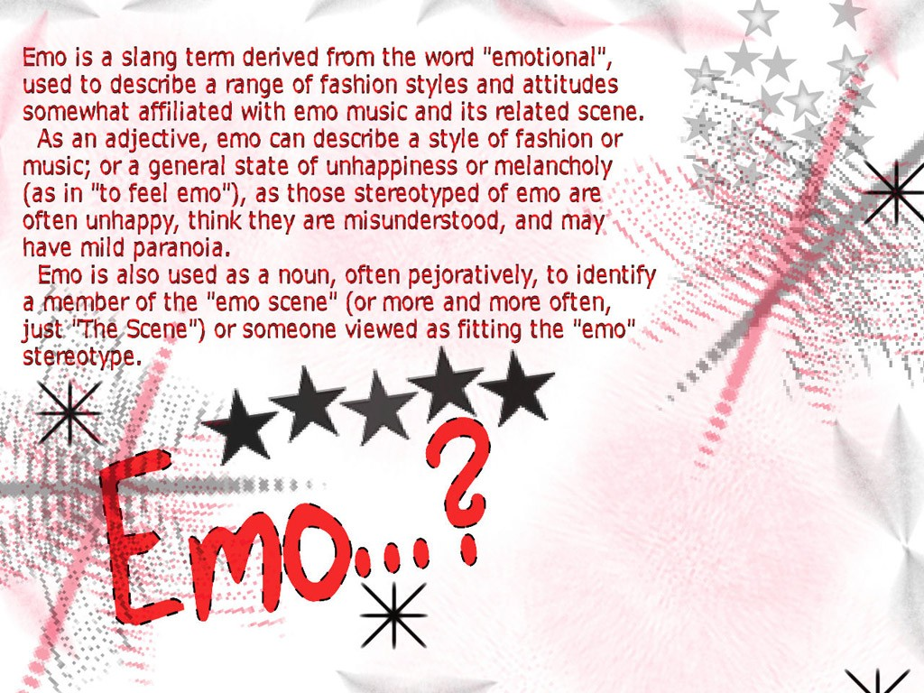 emo Stereotyp wallpaper Emo