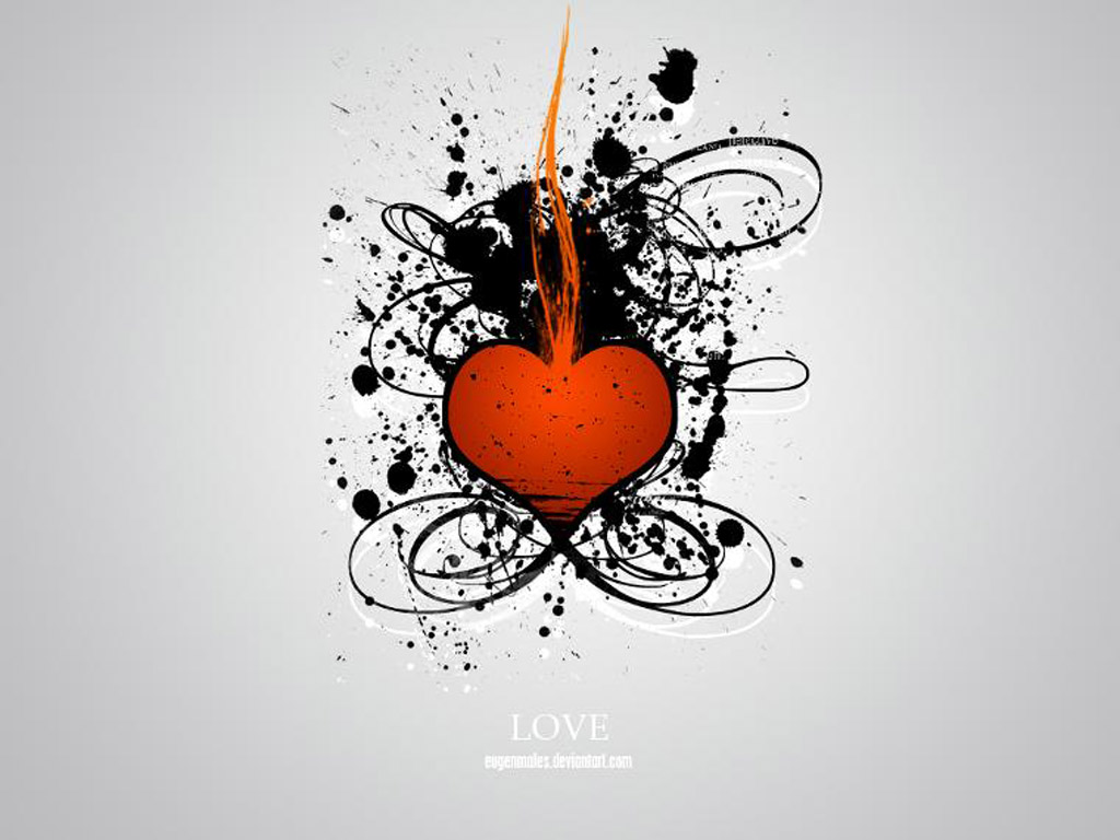 red heart of love wallpapers Emo